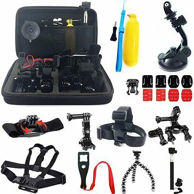$ CDN35.74 • Buy 24 In 1 Accessories Set Kit W Carry Bag For GoPro Hero 4 Hero+ 3+ 3 SJcam SJ4000