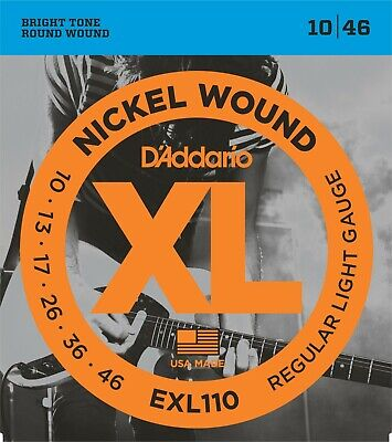 $ CDN6.86 • Buy D'Addario EXL110 Electric Guitar Strings 10-46 Light Sets