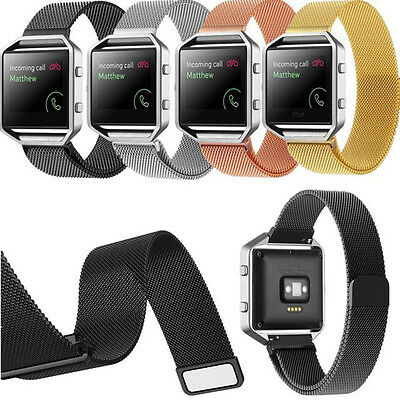AU17.81 • Buy Milanese Loop Stainless Steel Watch Band Strap Magnetic Clasp For Fitbit Blaze