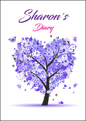 AU22.95 • Buy 2021-2022 Financial Year Diary Personalised With Your Name Purple Tree A5