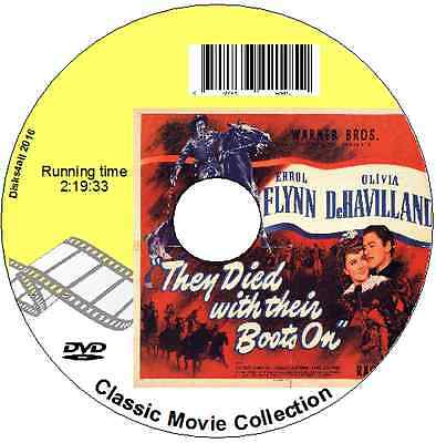 They Died With Their Boots On  Errol Flynn (Custer) Olivia De Havilland 1941 DVD • 1.99£