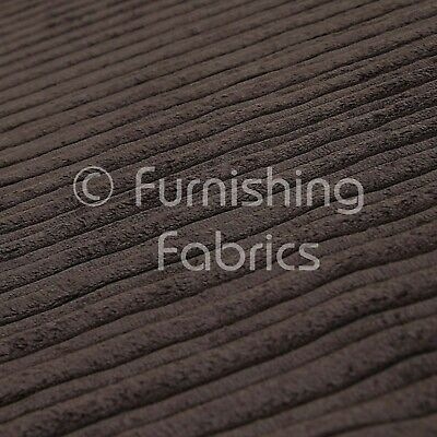 £10.99 • Buy Soft Thick Chunky Super Jumbo Cord Upholstery Fabric Material Brown Chocolate