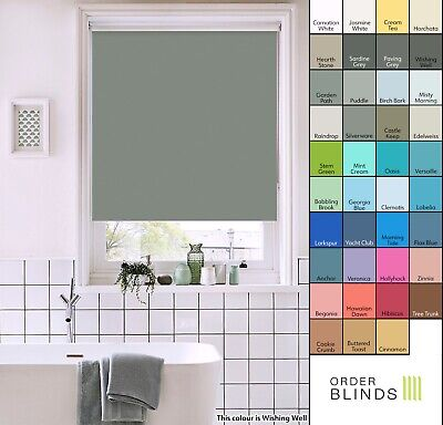 Waterproof Roller Blinds Made To Measure In 39 Colours - Bathroom, Kitchen Blind • 41£