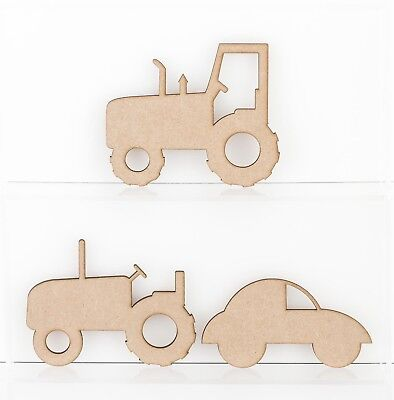 £2.01 • Buy Wooden MDF Tractor Bubble Car Craft Shape Sign Blank 3mm Thick Medite