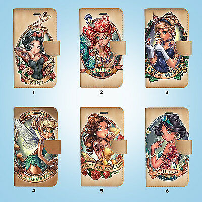 AU12.99 • Buy Disney Princess Wallet Case Cover For IPhone 12 11 Pro Max Mini XS XR X SE 38