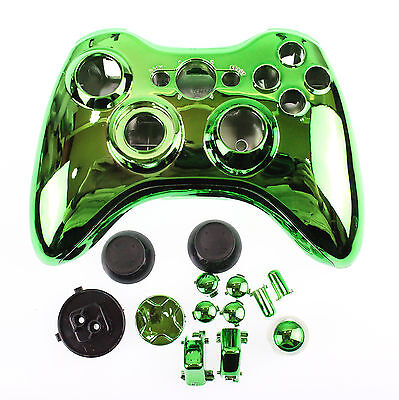 £59.99 • Buy Replacement Custom Chrome Green Xbox 360 Controller Shell Case.