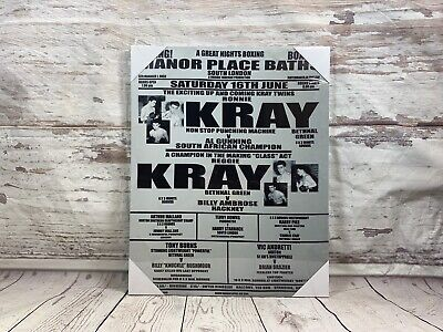 KRAY Brothers Canvas Picture London Gangsters Krays Boxing Match Poster WALL ART • 13.99£