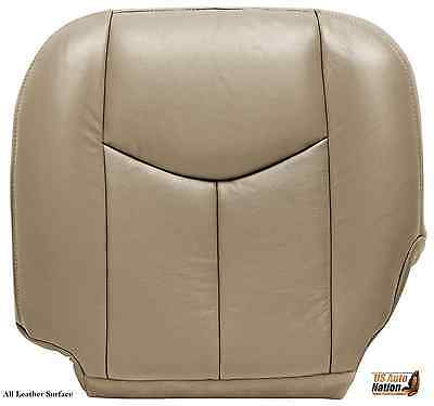 $97 • Buy 03-07 Chevy Silverado Driver Bottom Replacement Leather Seat Cushion Cover TAN