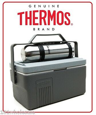 AU74.80 • Buy ❤ Thermos Lunch Lugger 6.6L Insulated Cooler Box + 1L Stainless Steel Flask ❤