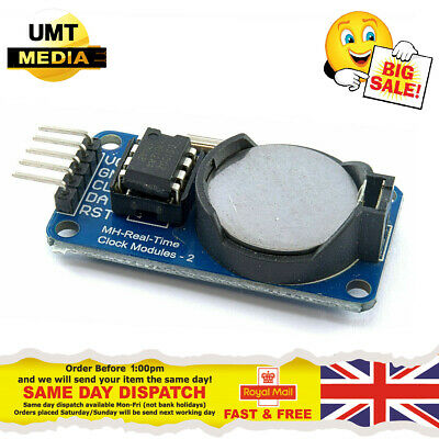 DS1302 Real Time Clock Module RTC Board For Arduino *INCLUDING BATTERY* • 2.20£