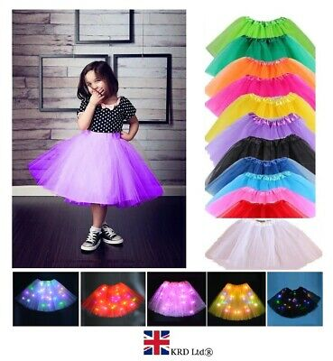 3 LAYERS HIGH QUALITY KIDS GIRLS TUTU SKIRTS Fancy Skirts Tulle Dress Up Party  • 6.20£