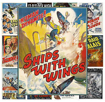 $ CDN13.12 • Buy Mini Posters [13 Posters 8 X11 /A4] Airplanes War Action WWI Movie Vintage MP428