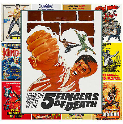 $ CDN13.12 • Buy Mini Posters [13 Posters 8 X11 /A4] Kung Fu Shaolin Vintage Trash Movie MP476