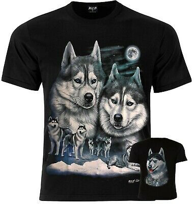 £12.99 • Buy HUSKY PACK WOLF Wolves Snow Wolf Dog T-Shirt XS M L XL