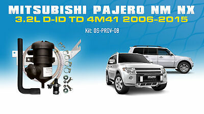 AU285 • Buy ProVent Oil Catch Can Filter Kit For Mitsubishi Pajero NM NX 4M41 3.2L 2006-2015