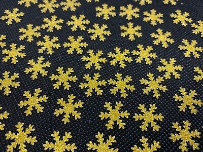 50+ Non Shed GOLD GLITTER Card Snowflakes Table Confetti Xmas Decoration Scatter • 0.99£