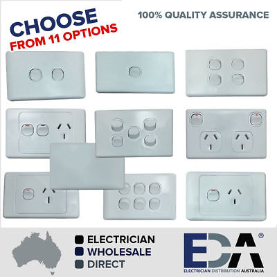 AU9.99 • Buy Double Power Point Dgpo Electrical Socket Single Switch Outlet Gang 240v Classic