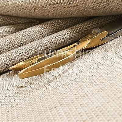 £8.99 • Buy New Quality Textured Basket Weave Hopsack Upholstery Furnishing In Beige Fabric