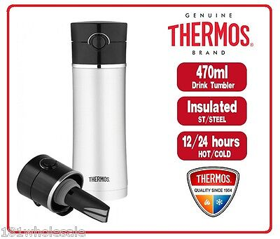 AU33.85 • Buy ❤ Thermos Vacuum Insulated Drink Stainless Steel Bottle Tea Infuser 470ml ❤