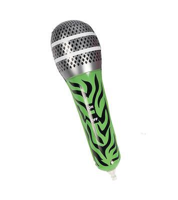 £1.49 • Buy 12  Inflatable Green Zebra Microphone Mic Musical Instrument Kids Toy Blow Up