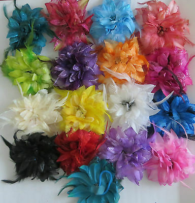 £2.25 • Buy Bridesmaids,Flower Feather Bead Corsage Hair Bubble Fascinator Hairband And Pin