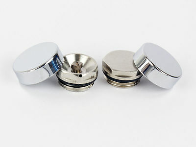 Two Chrome Cover Cap For Towel Rail Radiator Blanking Plug And Air Vent / Bleed  • 4.49£
