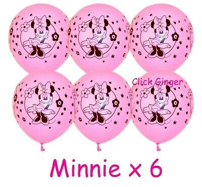 AU3.85 • Buy Minnie Mouse Pink Latex Balloons X 6 Birthday Party Decoration Mickey 1st Girl