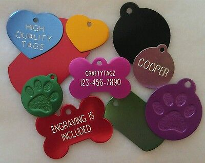 $3.49 • Buy Custom ENGRAVED PET TAG Personalized Dog ID Charm IDENTIFICATION Cat ID Tags