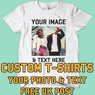 Your Image Text Photo Here Custom T Shirt Printing Personalised Stag Hen Party • 7.29£