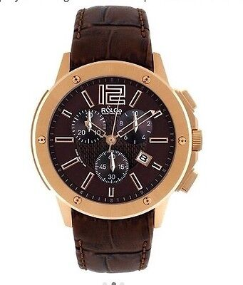 £199.99 • Buy R&Co Rotary Mens Brown Dial Chronograph Watch - Leather Strap RGS00004/42/16
