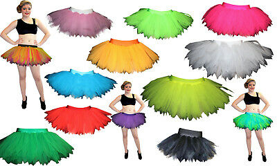 Plus SIze Neon Angel Witch Black Purple Pink 7 Layers Pointed Tutu Size 16 - 20 • 12.99£