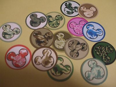 £5.27 • Buy Pre Cut One Inch CAMO MICKEY MOUSE HEAD  Bottle Cap Images! FREE SHIP