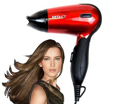 £10.95 • Buy Red Hot Professional Style Hair Dryer Hairdryer With Concentrator Nozzle