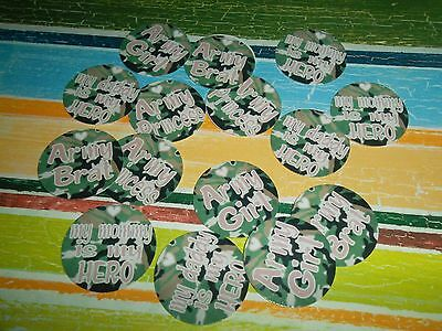 £6.69 • Buy Pre Cut One Inch CAMO ARMY SAYINGS Images! FREE SHIP