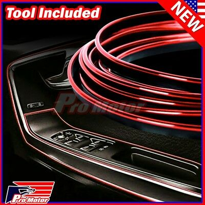$7.30 • Buy Red 5M Car Interior Door Gap Edge Line Insert Molding Trim Strip Deco Accessory