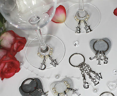 £2.20 • Buy Personalised Wedding Favours - High Quality Gift - Glass Charm To Keyring - DIY