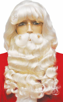 $1100 • Buy Morris Costumes Christmas Santa Set 007 Wig Mustache Ex Supreme With Must. LW50
