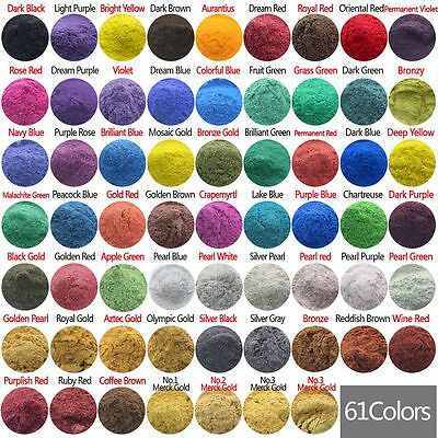 £0.99 • Buy 10g Cosmetic Grade Natural Mica Powder Pigment Soap Candle Colorant Dye 61 Color