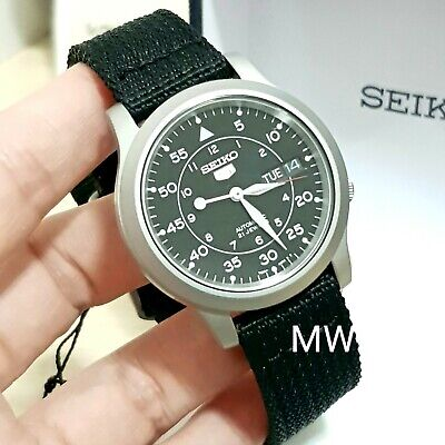 $ CDN243.25 • Buy Seiko 5 Military Automatic Day Date SNK809K2 Men Watch Black Nylon Cloths New