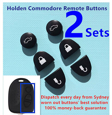 AU5.99 • Buy 2 Sets Key Remote Buttons Holden Commodore Key Buttons VS VZ WH WK WL VT VX VY
