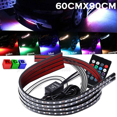 $30.01 • Buy 4pcs Multicolor LED Neon Glow Strip Under Car Light Tube Underbody Kit Fit Buick