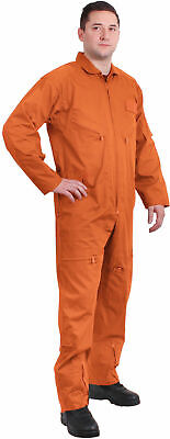 $48.99 • Buy ORANGE Military Flight Suit Air Force Style Flight Coveralls Choose Size 7415