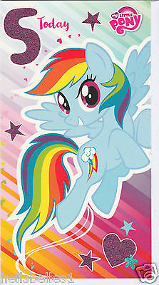 New Official My Little Pony  5th  Birthday Card**free 1st Class P&p** • 2.65£