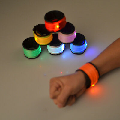 AU5.06 • Buy LED Slap Band Glowing Wristband Light Up Reflective Gear Bracelet For Women Men