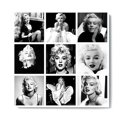 £29.95 • Buy Gifts! Sexy Marilyn Monroe Movie Collage Canvas Black & White Pictures Free P&p