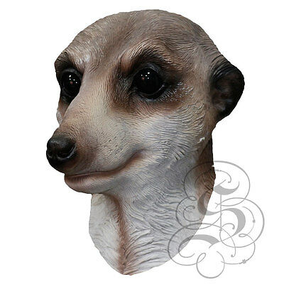 Latex Animal MEERKAT Party Mask - Halloween Hen Stag Prop Cosplay Photography  • 19.99£