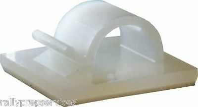 £2.75 • Buy Self-Adhesive Nylon Clips Fasteners For Wire, Cable, Conduit, Etc VARIOUS SIZES