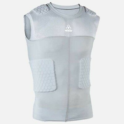 McDavid  NWT Large Men Hex Sleeveless Shirt 5-pad Integrated Top Gray #7932