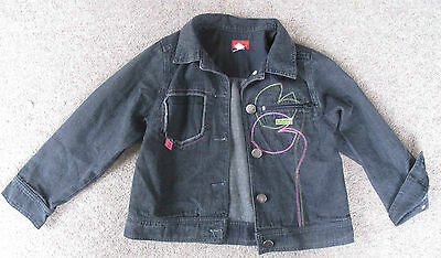 Girls MARESE Black Denim Jacket / Coat Size 4A / 4 Years / 102 Cm - Gorgeous • 8£