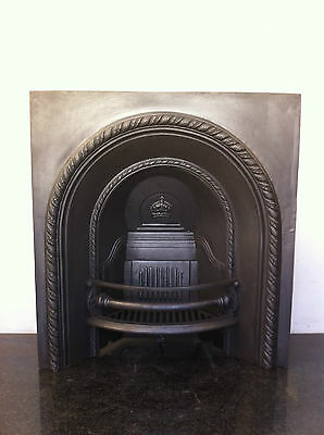 Restored Antique Victorian Style 36 X 34 Cast Iron Fireplace Arched Insert PK274 • 580£
